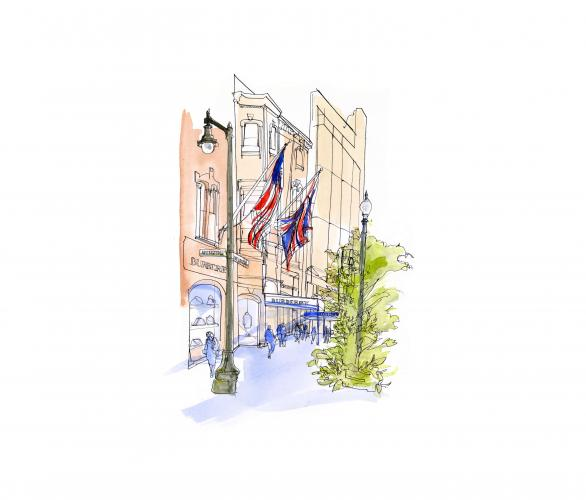 "alt=""Boston Illustrations, Postcard Illustrations by Veronica Lawlor"""